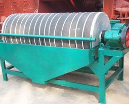Wet-type permanent drum magnetic separator